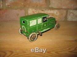 Nice Old Lehmann Sedan Car #765 Germany Tinplate Vintage Tin Toy Working Wind Up