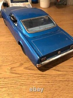 Normura Toy Vintage Ford Mustang Tin Car Large Size