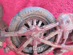 Old Antique Cast Iron Hubley Kilgore Harley Motorcycle & Side Car Toy Police Man
