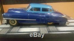 Old Vintage Big Size Tin Friction Powered Car Toy from Japan 1950