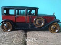 Old Vintage Big Size winding Car Toy from Germany 1930