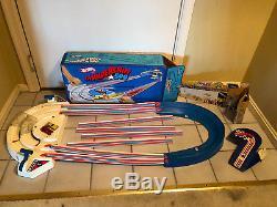 Old Vtg Toy Mattel HOT WHEELS Thundershift 500 Race Track Redline Cars WithBox
