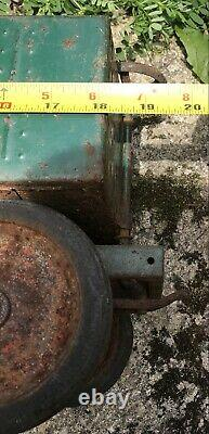 Original 1930s KEYSTONE RR 6500 Railway Green Pressed Steel Coal Car Toy