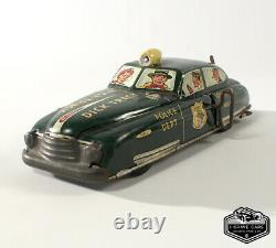 Original 1940s Dick Tracey No. 1 Police Dept Squad Car Tin Toy Car Marx Wind Up