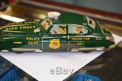 Original 1949 Tin Wind Up Toy Dick Tracy Squad Car NO. 1