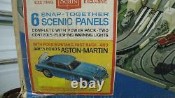 Original Genuine 1965 James Bond 007 Road Race Slot Car Track Set