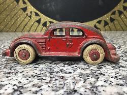 Original Vintage Antique 1930s Cast Iron Sedan Automobile Car Toy Vehicle