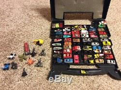 Over 60 Micro Machines Lot, And Other Micro Cars Vintage Toys AND Case