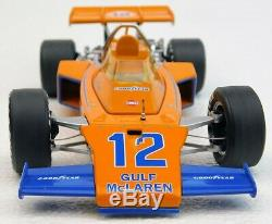 PETER REVSON McLAREN M16 GULF INDY 500 VINTAGE RACE CAR 118 REPLICARZ GOODYEAR