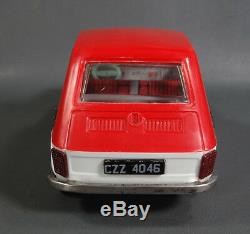 POLAND FSO FIAT 126p POLSKI TIN PLASTIC CAR MODEL TOY 1/18 Red White Friction