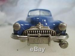 Prameta Buick 405 Blue car Box, Papers, Guarantee, Germany British Zone Wind up