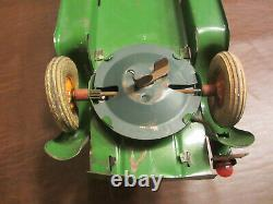 Pressed Steel 12.5 L 1929 Kingsbury Toys Coupe Wind Up Motor & Lights Toy Car
