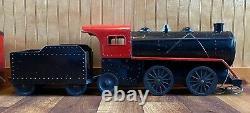 RARE 1920/40s COR-COR Toys Pressed Steel Floor Train Set WithPullman Passenger Car