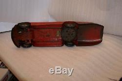 RARE 1920's Kingsbury Sunbeam Car Toy Clockwork Tin Plate As is