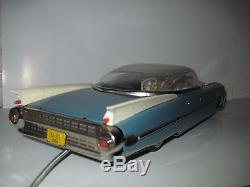 Rare! Vintage Cadillac Eldorado Tin Toy Car Mechanical Remote Controller