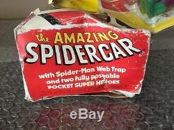 RARE Vintage 1978 Mego Comic Action Heroes Spider Car Set Spidy-Hulk-WOW