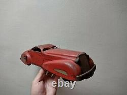 RARE Vintage Marx Toys Red Tin Litho Streamliner Car Coupe OT 711