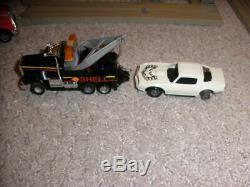RARE Vintage Tyco US1 Electric Trucking Highway Wrecker Slot Car Set
