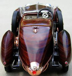 Racer Vintage Antique Sport Car Rare Woody Wood Speed Boattail Concept Model