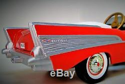 Rare 1957 Chevy Pedal Car Vintage BelAir Metal Collector READ FULL DESCRIPTION