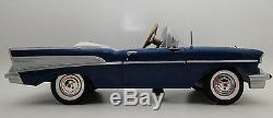 Rare 1957 Chevy Pedal Car Vintage BelAir Show Hot Rod Sport Custom Midget Model