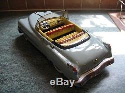Rare 50's Cadillac Convertible BIG Japan Tin Car Nomura battery TINPLATE TOY
