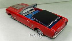Rare'60s battery operated Ford Mustang convertible tin-plate car by Yonezawa