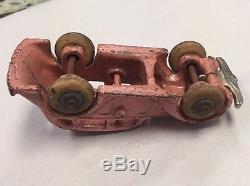 Rare Antique Arcade Mfg Co Cast Iron Sedan Pink Car Toy