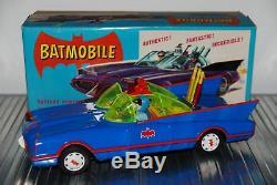 Rare Asc Aoshin Gama Japan Tin B/o 5900 Batmobile In Box Germany Batman Car