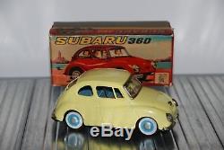 Rare Atc Asahi Japan Tin Friction 1291 Subaru 360 In Box 1960s Tinplate Car
