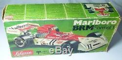 Rare Boxed Old Toy Schuco 356/178 Marlborough Formula 1 Clockwork Racing Car