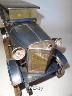 Rare DOLL Et CIE TOURER SEDAN BIG CLOCKWORK CAR 37cm Germany 1920's BING TIPPCO