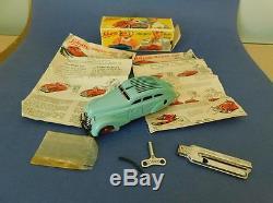 Rare German Schuco Patent Wind up Tin Toy Car Magico Auto 2008 Key Whistle Box