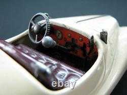 Rare German Tin Toy Schuco Examico 4001 Wind Up Clockwork Cream Original Car