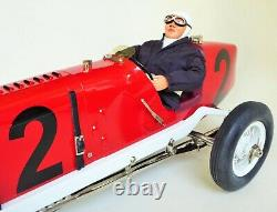 Rare Gilbow Tinplate Large Racer #2 Miller Car Mechanical Toy With Driver