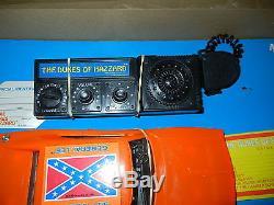 Rare HG Toys Vintage Dukes of Hazzard General Lee Car & CB Radio in Box Mego Toy