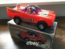 Rare Plastic With Tin Korean Batman Car Batmobile Mint In Box