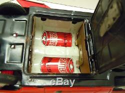 Rare Red Japan Alps 1960's Tin Battery Op. Fire Bird lll Car withBox. A+. Works