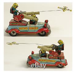 Rare Tin Toy Marusan Rocket Ranger Car Made in Japan 1950's Vintage F/S 452