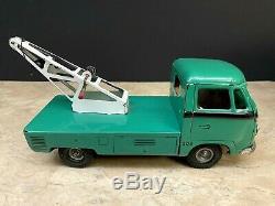 Rare Vintage Lemy Poliumex Tow Truck GRUA VW Tin Toy Volkswagen Car Tippco