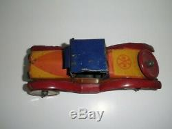 Rare Vintage Marx 1920's 30's King Racer Tin Wind Up Car Made In USA