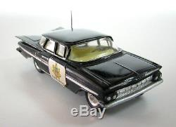 Rare Vintage Police State Patrol Car Corgi Toys #223 Chevrolet Impala + Box