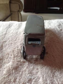 Rare Vintage Tin German Penny Toy Car & Driver Lehmann Ito Distler Sedan Touring