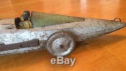 Rare antique 1930's Tin Race Car