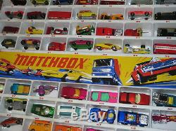 Rare vintage Matchbox Lesney superfast original shop display + near mint cars