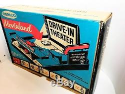 Remco Movieland Drive In, Nice Condition Platform, Box, Cars, Films, 1959