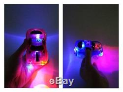 Replacement Toy Cars for Magic Tracks Neon Glow Light Up Police Car And Race