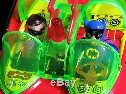 SCARCE BATMAN BATMOBILE & ROBIN BATTERY OP. CAR TOY TAIWAN MINT with BOX WORKS