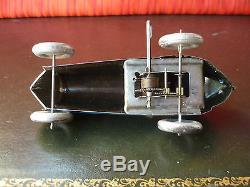 Scarce MEMO 708 2157 France Tin Wind-up N8 Boattail Boat Tail Race Car