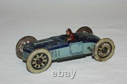 Scarce SG Gunthermann German Tin Wind Up Racing Toy Race Car withDriver Works L@@K